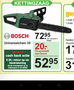 Kettingzaag Bosch (na cashback €20,-)