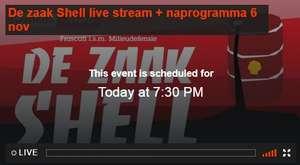 """Gratis livestream Theater Frascati: """"De Zaak Shell"""" vanavond om 19:30u"""