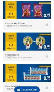 Lidl Plus: 1+1 gratis op chocolade kruidnoten, chocolade munten en chocolade lolly's