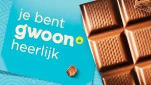 Gratis reep chocolade bij geselecteerde boni winkels na invullen enquête