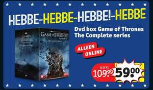 Game of Thrones DVD box complete collection €59,- @ Kruidvat