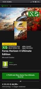 Forza Horizon 4 Ultimate edition Xbox/pc en Forza Motorsport 7 Ultimate edition