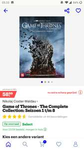 Game of Thrones - The Complete Collection: Seizoen 1 t/m 8 DVD (Bluray ook in de add)