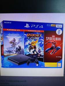 Ps4 slim 500GB + horizon zero dawn + Ratchet & Clank + Spider-Man vanaf de 27e