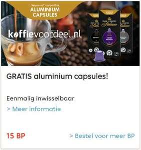 Gratis 20 Gran Maestro Italiano koffiecapsules (inlevering van 15BP @Thuisbezorgd.nl)