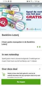 3x gratis meespelen Bankgiro Loterij