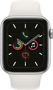 Apple Watch Series 5 44 mm - aluminium - zilver - wit sportbandje @Amazon.nl
