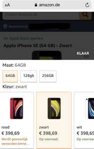 Iphone SE 2020 rood, zwart of wit