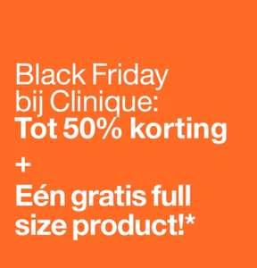Clinique black friday tot 50% korting en gratis cadeau