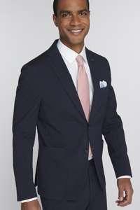 Van Gils Seersucker 2-delig pak Elray Navy Tailored Fit voor €134,99 - was €449,95
