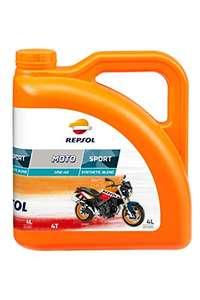 REPSOL Moto Sport 4T Motorolie voor motorfiets, 4L voor €14,99 bij Amazon.de