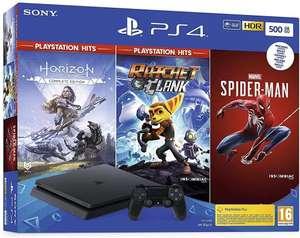 Sony Playstation 4 Slim 500Gb, Controller, Spider-Man, Horizon Zero Dawn, Ratchet & Clank.