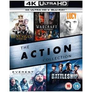 4K Blu-ray Box (5 Films) Warcraft, Lucy, Huntsman, Everest, Battleship