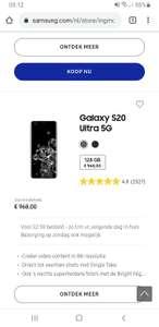 Samsung Galaxy S20 ULTRA 5G   ING aanbieding