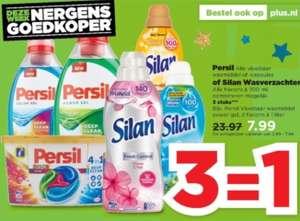 3=1 Persil wasmiddel of Silan wasverzachter PLUS