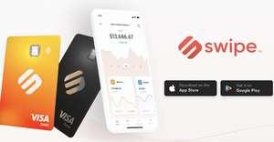 Swipe.io prepaid debit VISA met 1% - 8% cashback