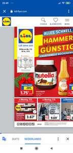 [GRENSDEAL] Nutella €1,75 voor pot 450 gram.