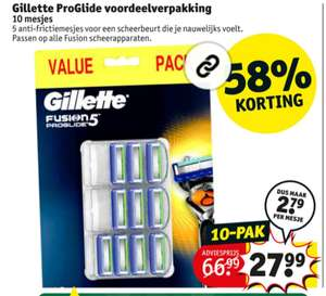 10x Gilette Fusion Proglide5 scheermesjes met GRATIS Berghoff bamboe snijplank t.w.v. 11,95