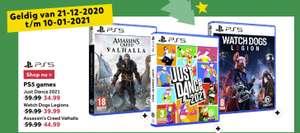 AC: Valhalla - €44,99, WD: Legion - €39,99, Just Dance 2021 - €34,99 (PS5/PS4) @ Intertoys (vanaf 21 december)