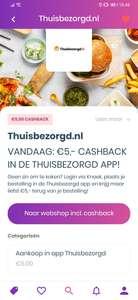 (VERLENGD) €5,- cashback van Thuisbezorgd via Knaek