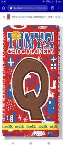 15 repen melk Tony's Chocolonely voor 8,95 @bol