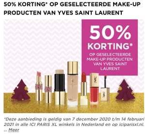 50% op geselecteerde YSL make-up producten