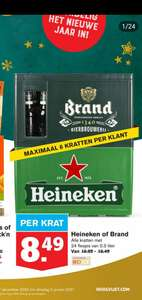 Krat heineken 24x0.3L flessen voor 8.49 euro