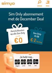 Simyo 30 GB voor €16,- (Telfort of KPN klanten)