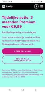 Spotify - 3 maanden premium voor €9.99