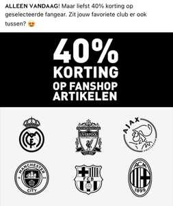 Intersport 40% korting op voetbal outfits