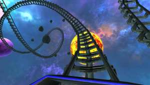 Gratis Android VR game: Intergalactic Space Virtual Reality Roller Coaster