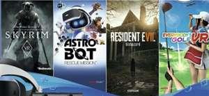 PSVR pakket met Resident evil 7, skyrim vr, astrobot rescue mission, everybodys golf vr