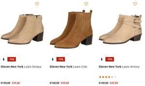 Steven New York leren laarzen -70%