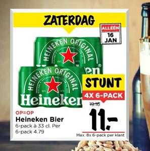 24 blikjes heineken voor 11 euro. Zaterdag bij de Vomar