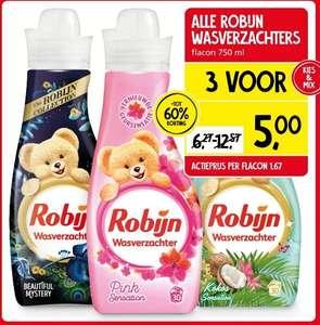 Alle Robijn wasverzachters 3 voor €5 bij jan Linders