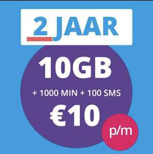 Prepaid Sim 10 GB+1000 min+100 sms 2 Jaar