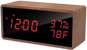 Meross digitale wekker (met temperatuur/luchtvochtigheid) voor €11,89 @ Amazon.nl