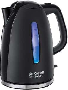 Russell Hobbs Textures Plus Waterkoker Zwart (1,7L), Snelkookfunctie, Extra Zuinig, Gemakkelijk Reinigbaar, [Energieklasse A+++]