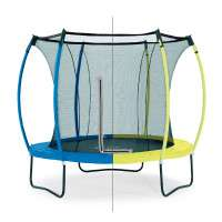 Trampoline Colours snorkelblauw/lime 8ft