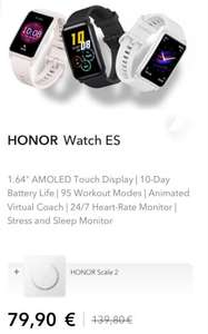 Honor Watch ES + Scale 2 Weegschaal @ Honor Store