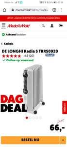 DE LONGHI Radia S TRRS0920 - Oliegevulde kachel