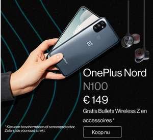 OnePlus Nord N100 149 + draadloze oortjes en hoesje