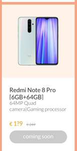 Xiaomi Redmi Note 8 pro 6GB/64GB Valentine's Day 14 februari €129 @mi.com