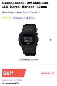 Casio G-Shock - DW-5600BBN-1ER