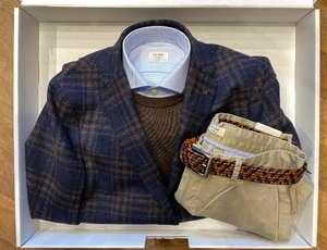 Van Gils verrassingsbox met jasje, trui, shirt, chino en riem voor €199 - waarde €600 @ Van Gils
