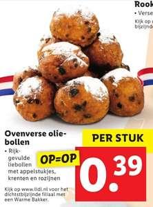 Skip alvast naar Oud & Nieuw: Ovenverse oliebollen 39ct Lidl