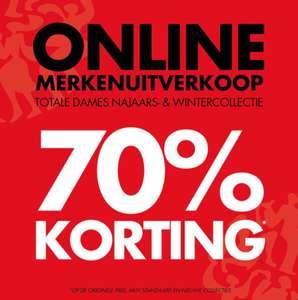 70% korting op dames najaars- en wintercollectie @ piet zoomers