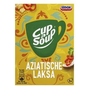 Unox Cup-a-Soup Aziatische Laksa voor €0,29 @ Die Grenze (79% korting)