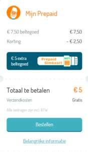 Simyo Prepaid - 5 euro voor nieuwe simkaart + 12,50 beltegoed.