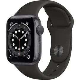 Apple Watch Series 6 - grijze aluminium kast van 40 mm met zwarte sportband @Rakuten